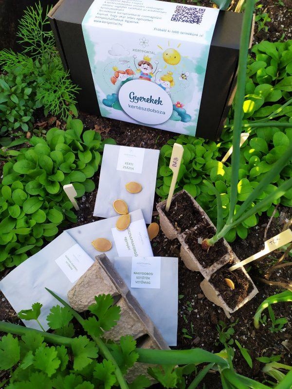 Gyerekek kertészdoboza