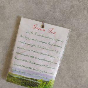 zöld tea papírtasakos illatosító
