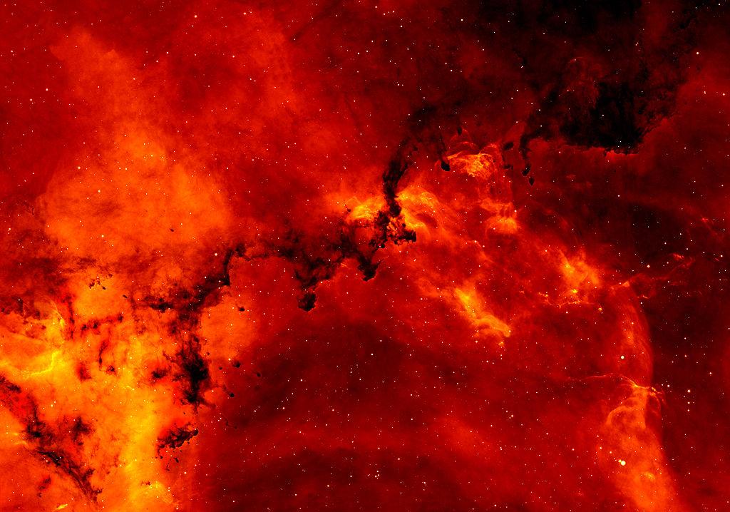 Rozetta-köd képe a H-Alpha felmérések részeként készült.