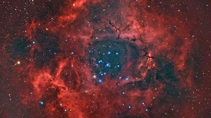 Rozetta-köd: a hatalmas izzó és vörös objektum