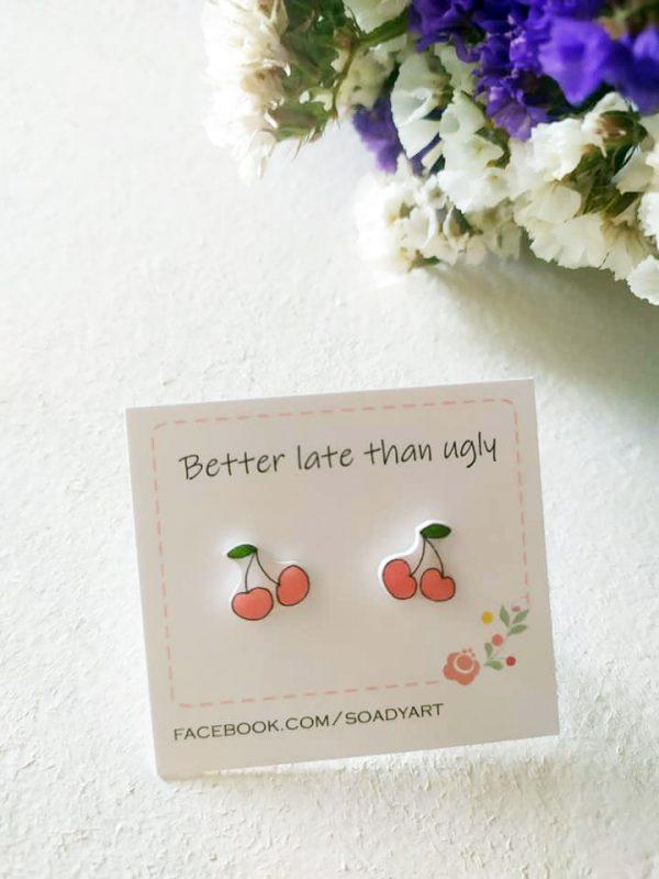 soadyart fülbevaló cseresznye